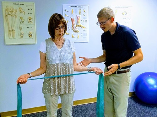 Rehabilitation is performed at McAndrews Chiropractic Clinic