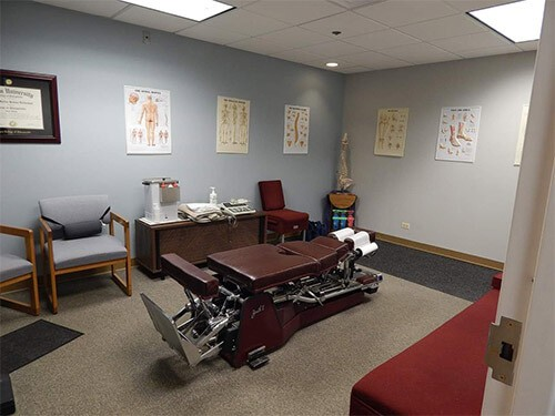 Treatment Room for Chiropractor in Wheaton, IL